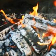 Burninging firewood — Stock Photo