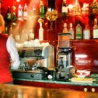 Stock Photo: Bar and barman