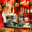 Bar and barman - Stock Photo