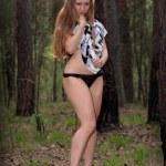 jeune fille sexuelle en robe — Photo #10427665