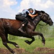 Stock Photo: Young horseman