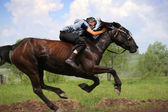 Young horseman — Stock Photo