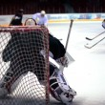 Hockey goalie — Stock Photo