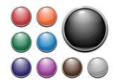 光沢のあるウェブのボタン — ストックベクタ
