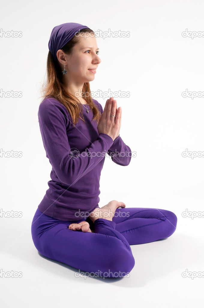 Padmasana or the lotus position — Stock Photo #10405303