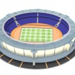 Athletic and football stadium top view — Stock Photo #10150484