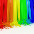 Splashes color paint as a rainbow — Stock Photo