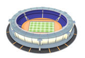 Athletic and football stadium top view — Stock Photo