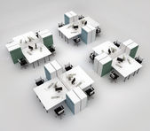 Open space office with systems office desks — ストック写真