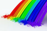 Splashes color paint as a rainbow — Stok fotoğraf