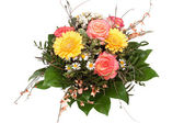 Bouquet of flowers on white background. — Stock Photo
