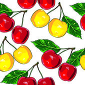 Cherry pattern — Stock Photo