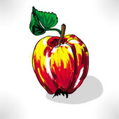 Apple in colour — Stock Photo