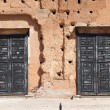 Royalty-Free Stock Photo: Black doors of Badi Palace, Marrakesh