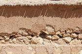 Broken clay wall — Stock Photo