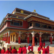 Himalayas architecture Pulkhakiary gompa Nepal — Stock Photo