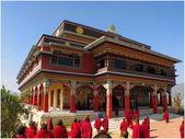 Himalayas architecture Pulkhakiary gompa Nepal — Stock Photo