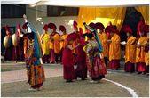 Himalayas faces LO-sar (lama dance) — Stock Photo