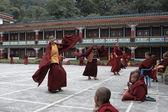 Himalayas faces. Lama dance. Sikkim. — Stock Photo
