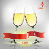 Champagne glass. Vector — Stock Vector