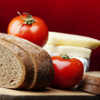 Stock Photo: Food,bread,tomato,cheese