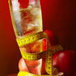 Stock Photo: Diet apple drink