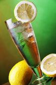 Ice cold lemon drink — Stock Photo