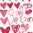 Royalty-Free Stock Vector Image: Heart texture collection