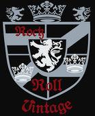 Heraldic royal emblem shield — Stock Vector