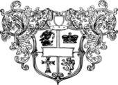 геральдические эмблемы щит — Cтоковый вектор
