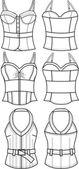 Lady fashion corset — Stock Vector