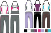 Lady fashion sporty set — Stock Vector