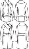 Lady vlněné sako — Stock vektor