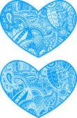 Serce z kwiatów pąki ilustracja — Wektor stockowy