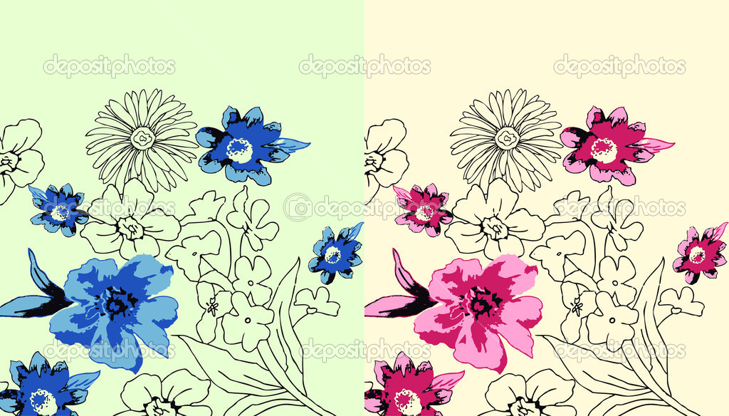 Flower Designs For Cards Flower Greeting Card Design