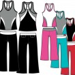 Aerobic fashion set — Stok Vektör #10251289