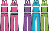 Sportieve mode slijtage — Stockvector