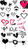 Hjärtat textur samling — Stockvektor