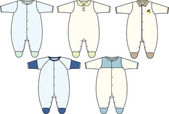 Infant boy baby wear — Stock Vector