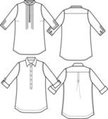 Lady fashion shirts — Stock Vector