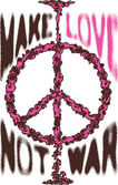 Peace war cloud love poster logo — Διανυσματικό Αρχείο