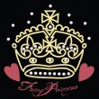 Princess crown ontwerp — Stockvector