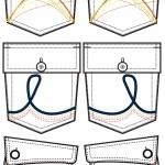 Back pocket design with details — Stock Vector #10387007