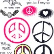 Royalty-Free Stock Vector Image: Pink peace logo