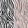 Stock Vector: Repeated seamless zebra pattern