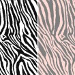 Repeated seamless zebra pattern — Stockvectorbeeld