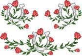 Decorative rose element set — Stock Vector