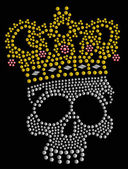 Wild skull beaded design — Stock Vector