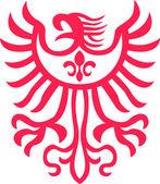 Ilustración símbolo tribal águila — Vector de stock