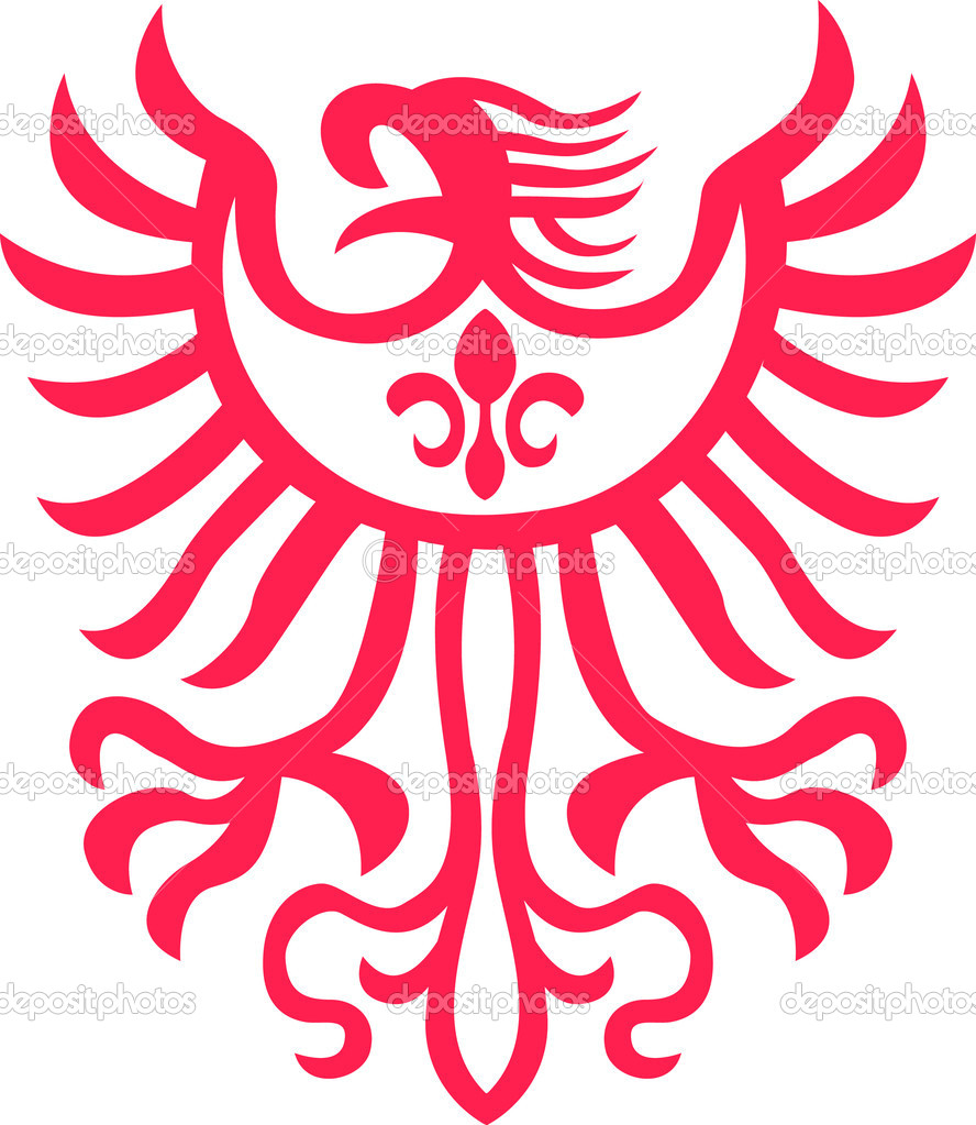 Tribal eagle symbol illustration — Stock Vector #10387148